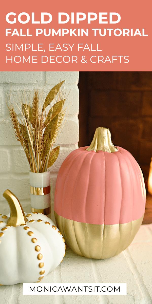 DIY Gold Pumpkin Tutorial Using Spray Paint