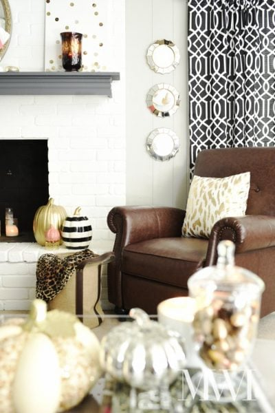 Gold and glam fall home tour decor for living room and dining room