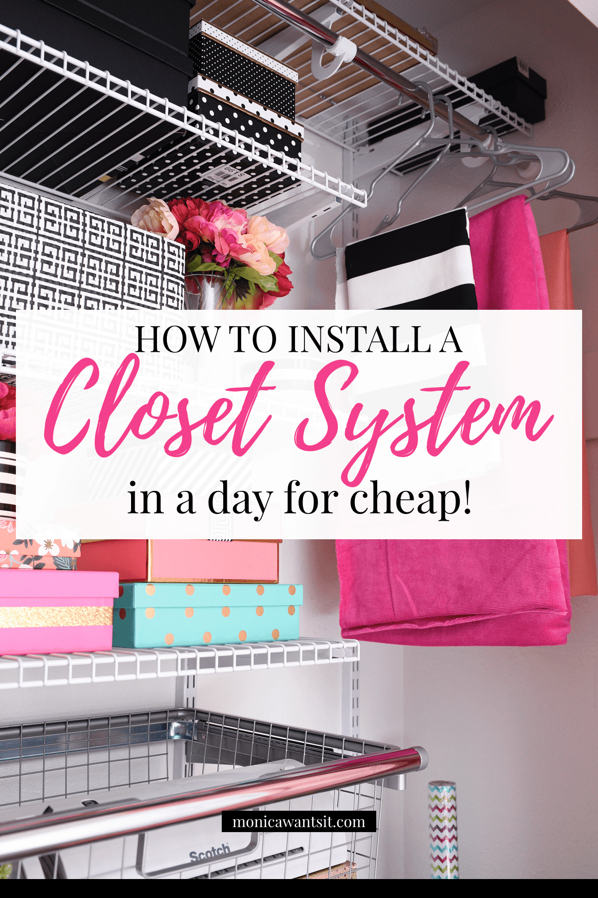 closet system for home office craft room