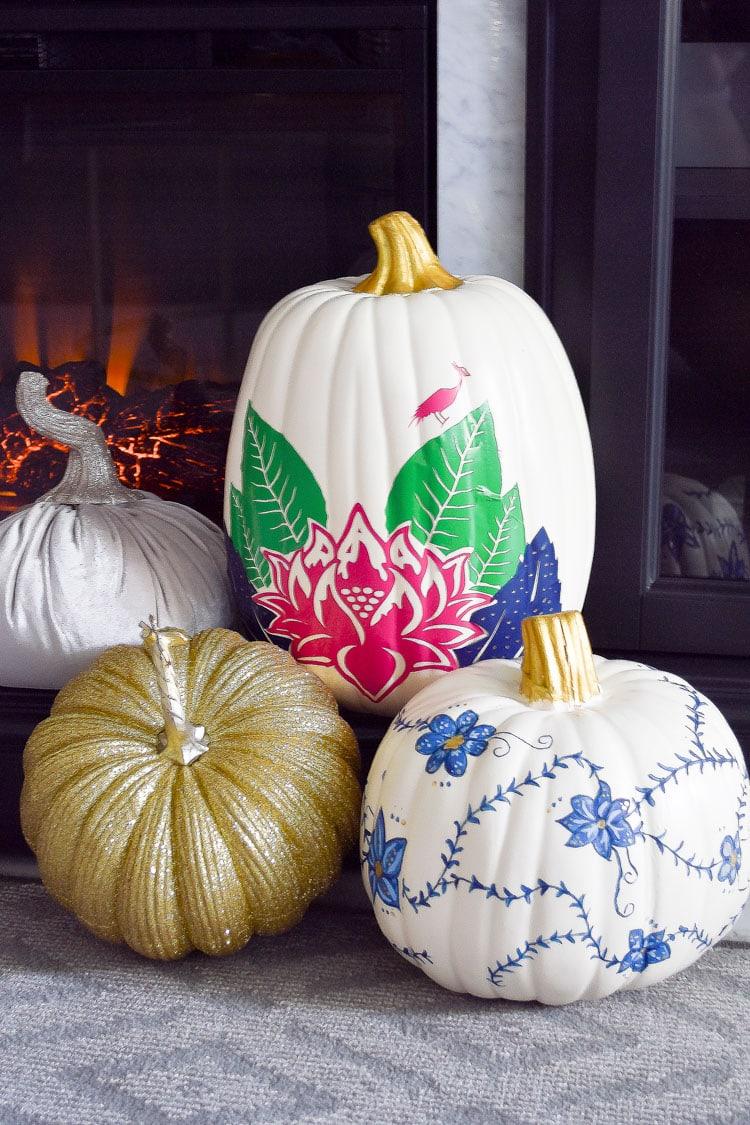 DIY tobacco leaf china chinoiserie pumpkin