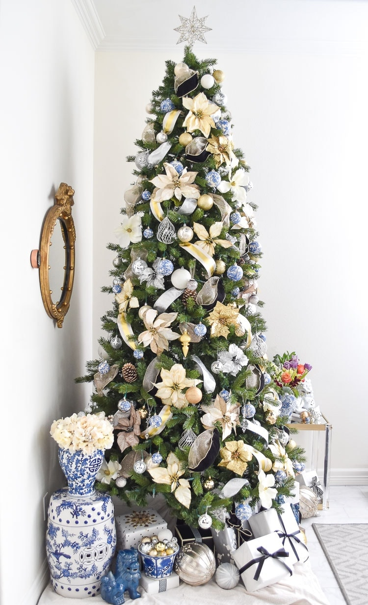 Chinoiserie Christmas Tree Decor Ideas Monica Wants It