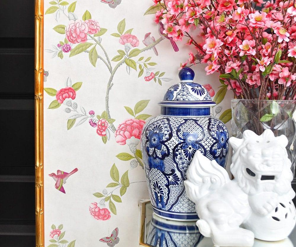 DIY Chinoiserie wall panels