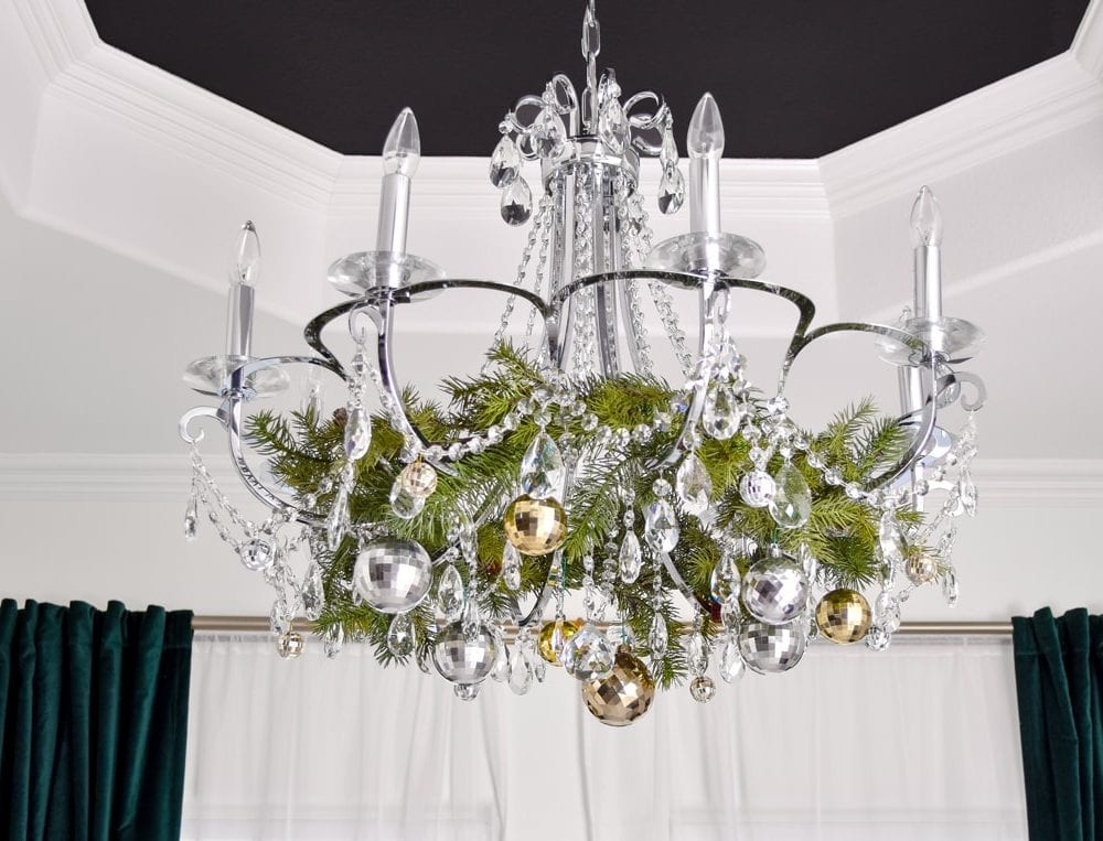 Chandelier Christmas decor