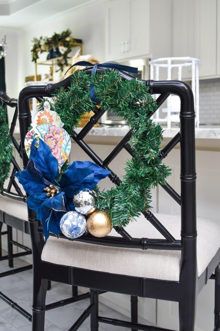 DIY Christmas Wreath for Chair