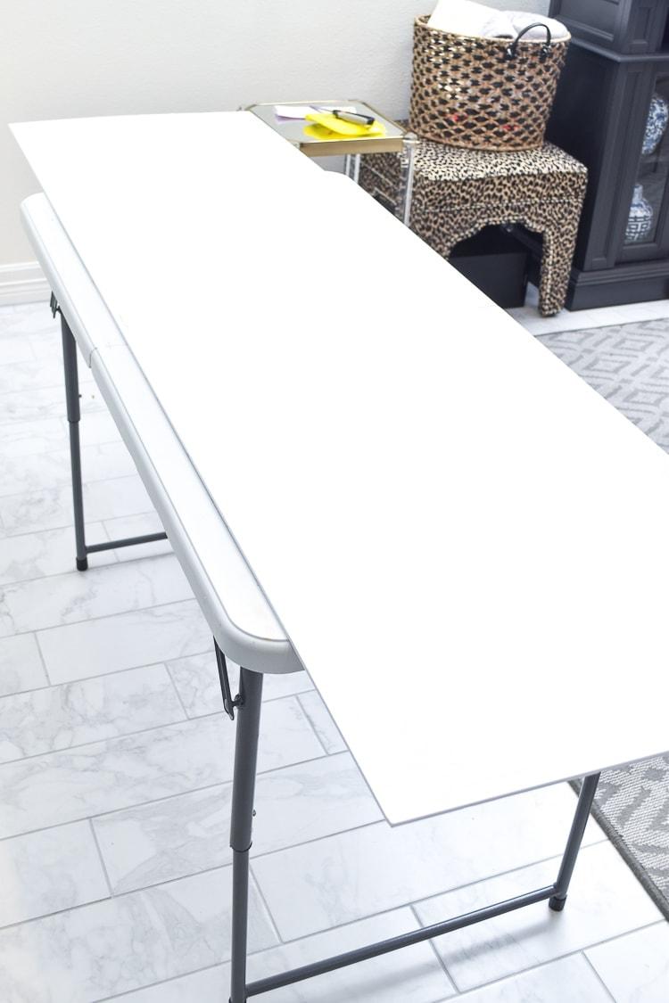 Foam core board on a table