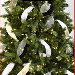 Christmas tree ribbon garland