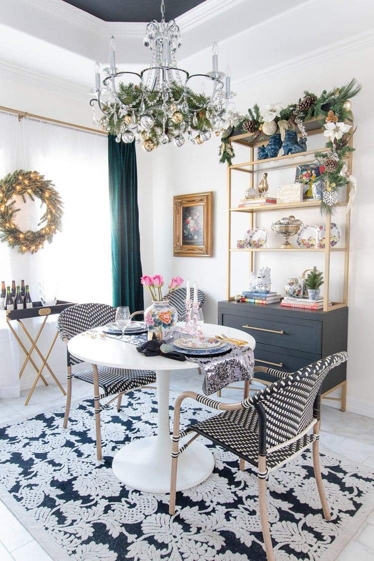 Eclectic Dining Room Holiday Decor - Monica Wants It
