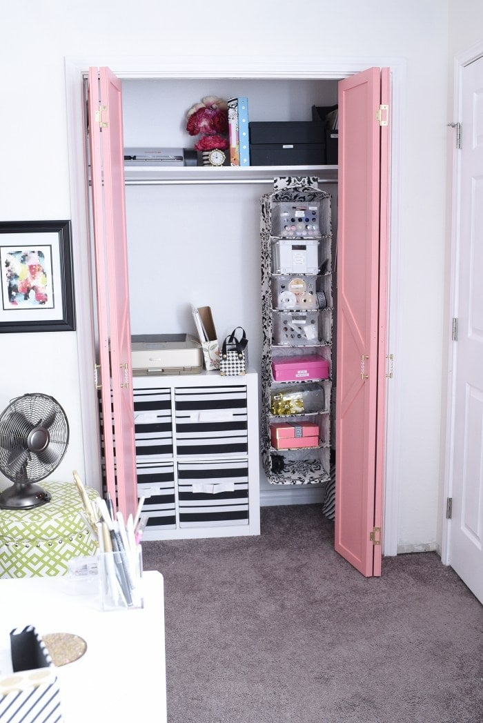 Craft room home office organization
