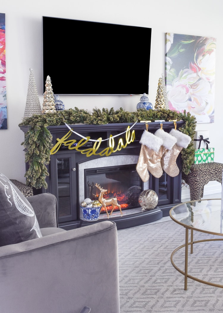 Gray fireplace mantel decor ideas