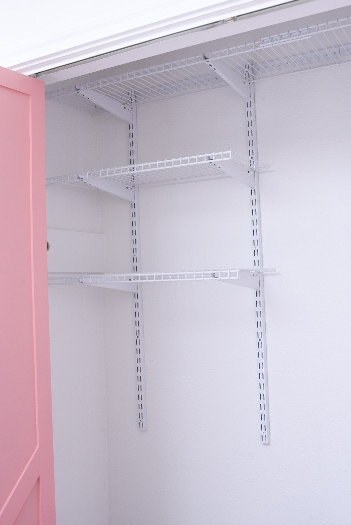 Home office closet organization