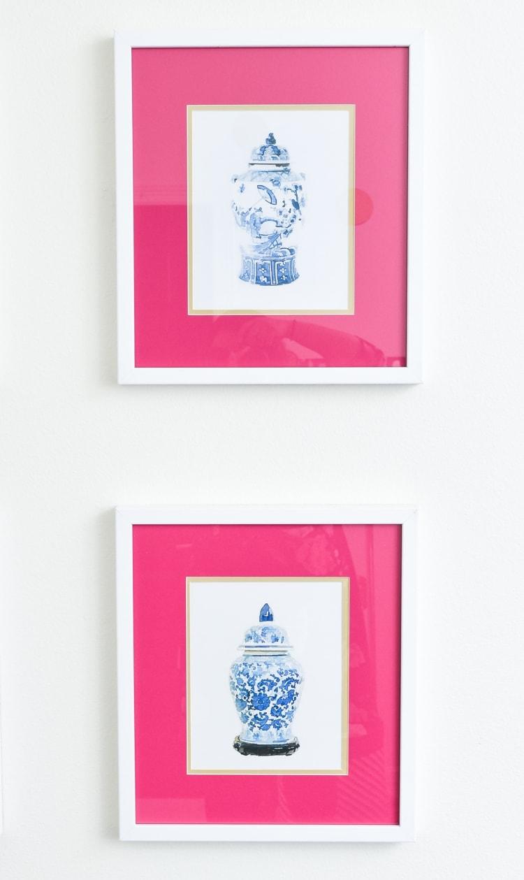 Ginger Jar Chinoiserie Artwork