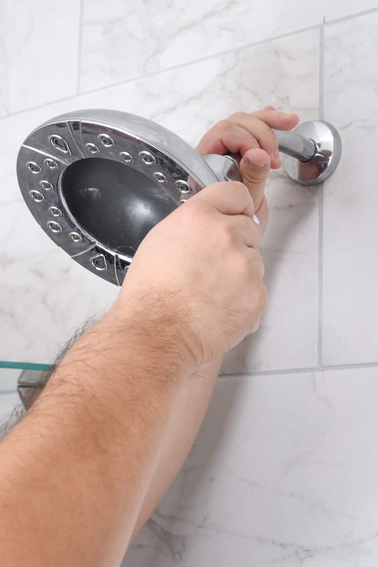 How to remove a showerhead