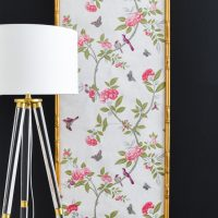 DIY Chinoiserie Wallpaper Panels