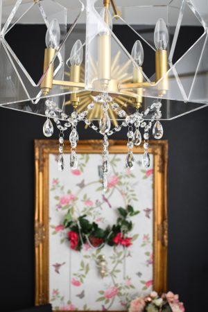 How to add crystals to an existing chandelier