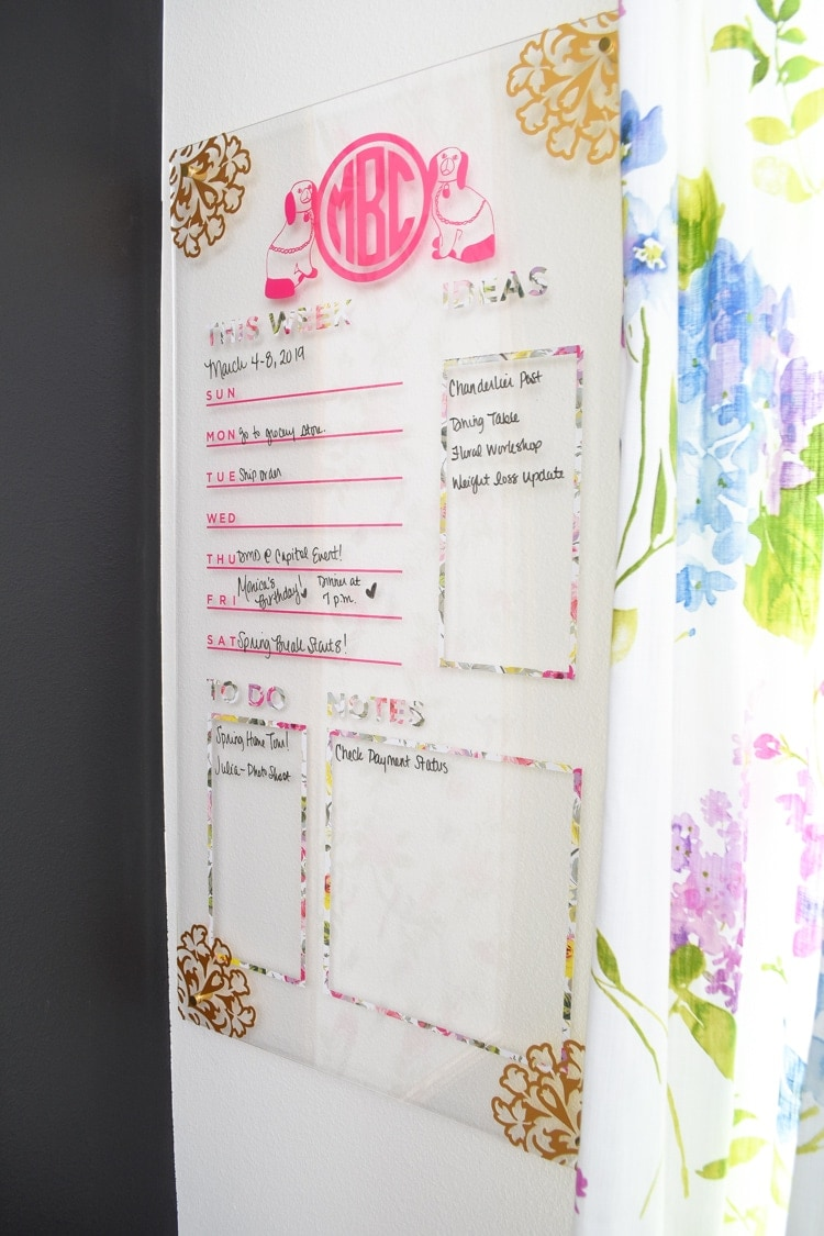 Affordable DIY Acrylic Memo Board