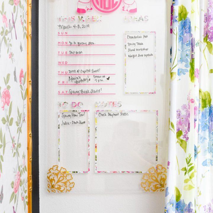 DIY Acrylic Memo Board Tutorial