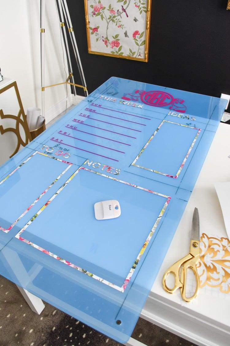 DIY Acrylic Memo Board Tutorial Cricut