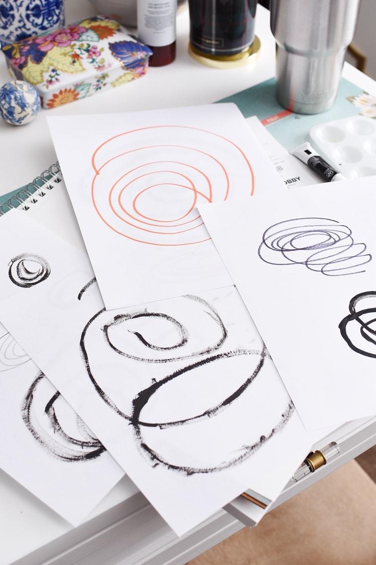 DIY affordable artwork tutorial