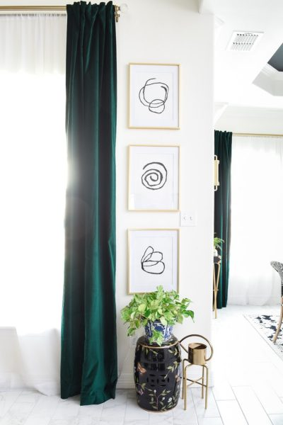 DIY Abstract Art Gallery Wall