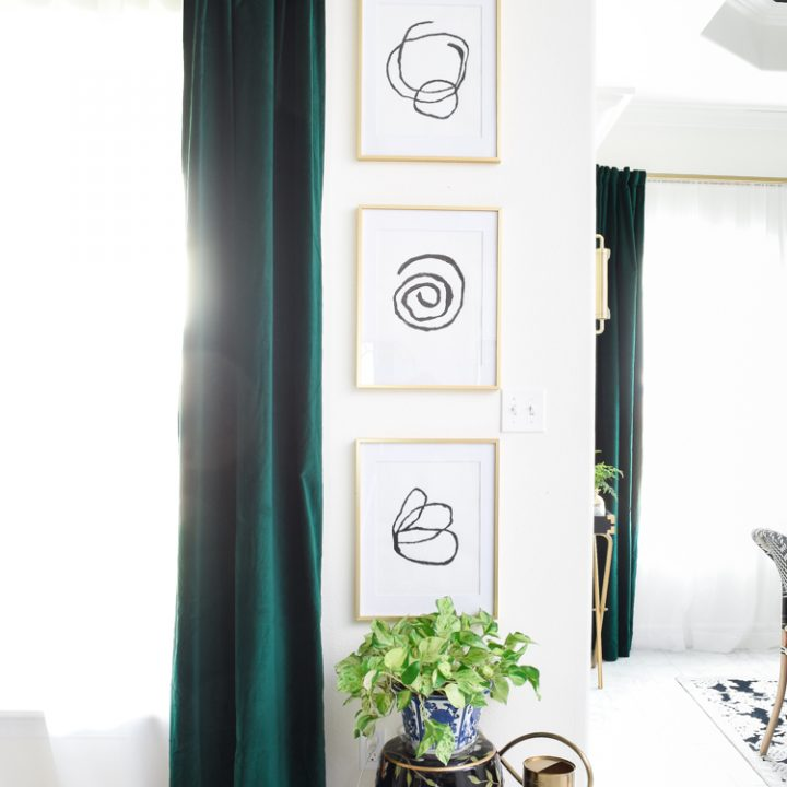 DIY Abstract Art Gallery Wall