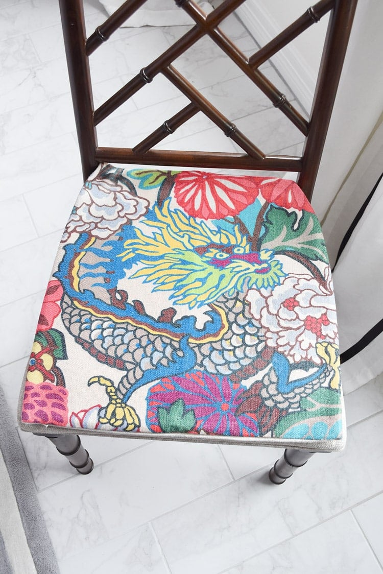 Chiang Mai Fabric Chippendale Chairs