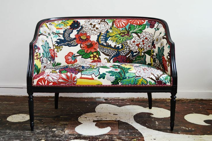 Chiang Mai Fabric on Settee