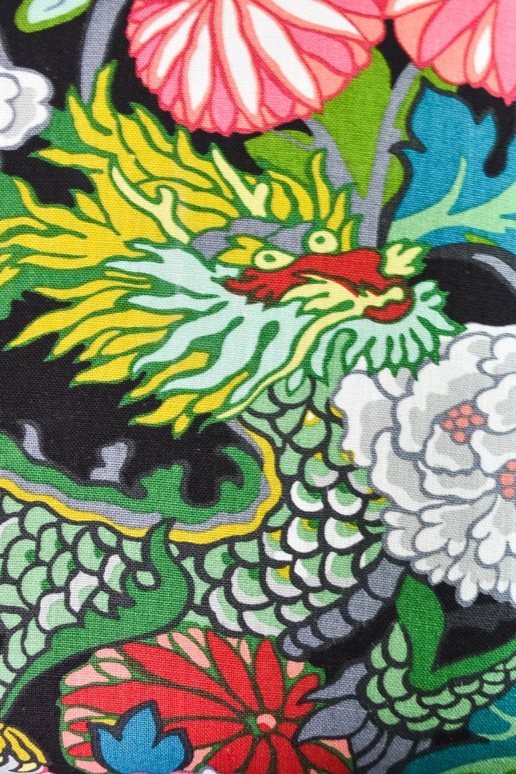 Schumacher Chiang Mai Dragon Fabric