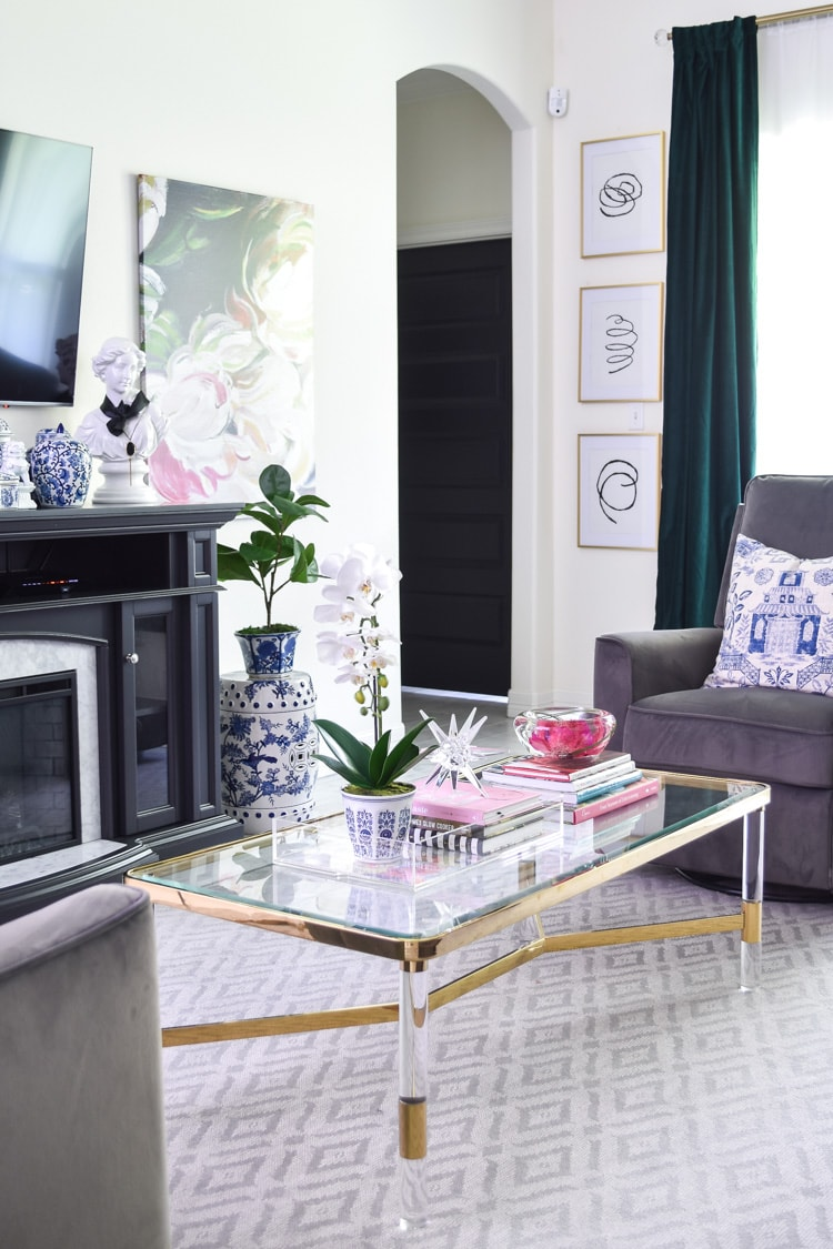 Lucite Coffee Table Decor