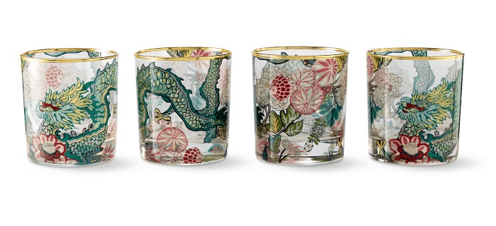 Chiang mai dragon old fashioned glasses at Williams Sonoma Home