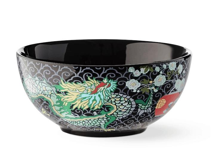 Chiang mai dragon dinnerware bowls