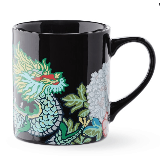 Schumacher dragon mugs at Williams Sonoma Home