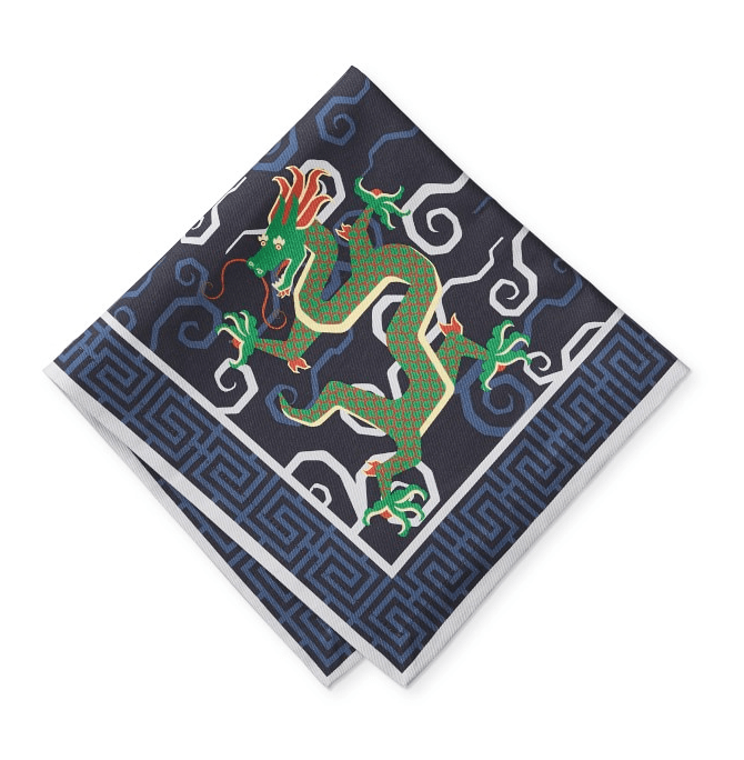 Bixi dragon cloth napkins by Schumacher