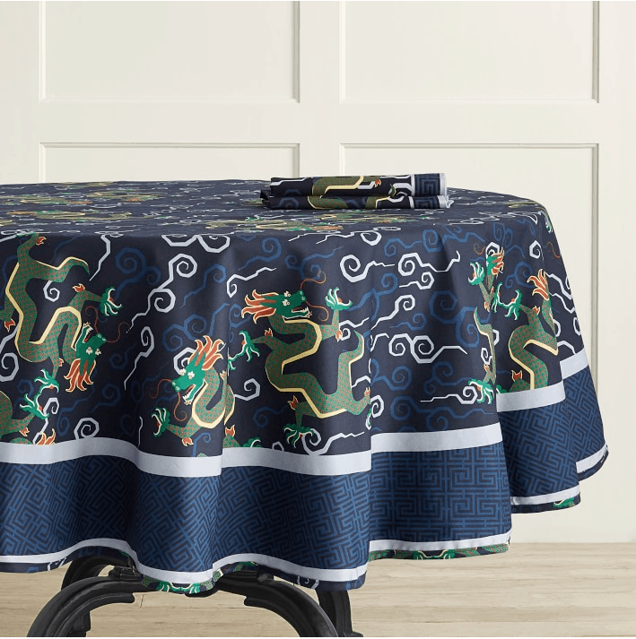 Bixi Dragon Schumacher tablecloth