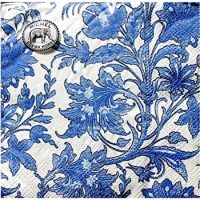 Michel Design Works Set of 20 Luncheon Paper Napkins, China Blue