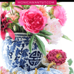 Chinoiserie decor for fall decorating with ginger jars