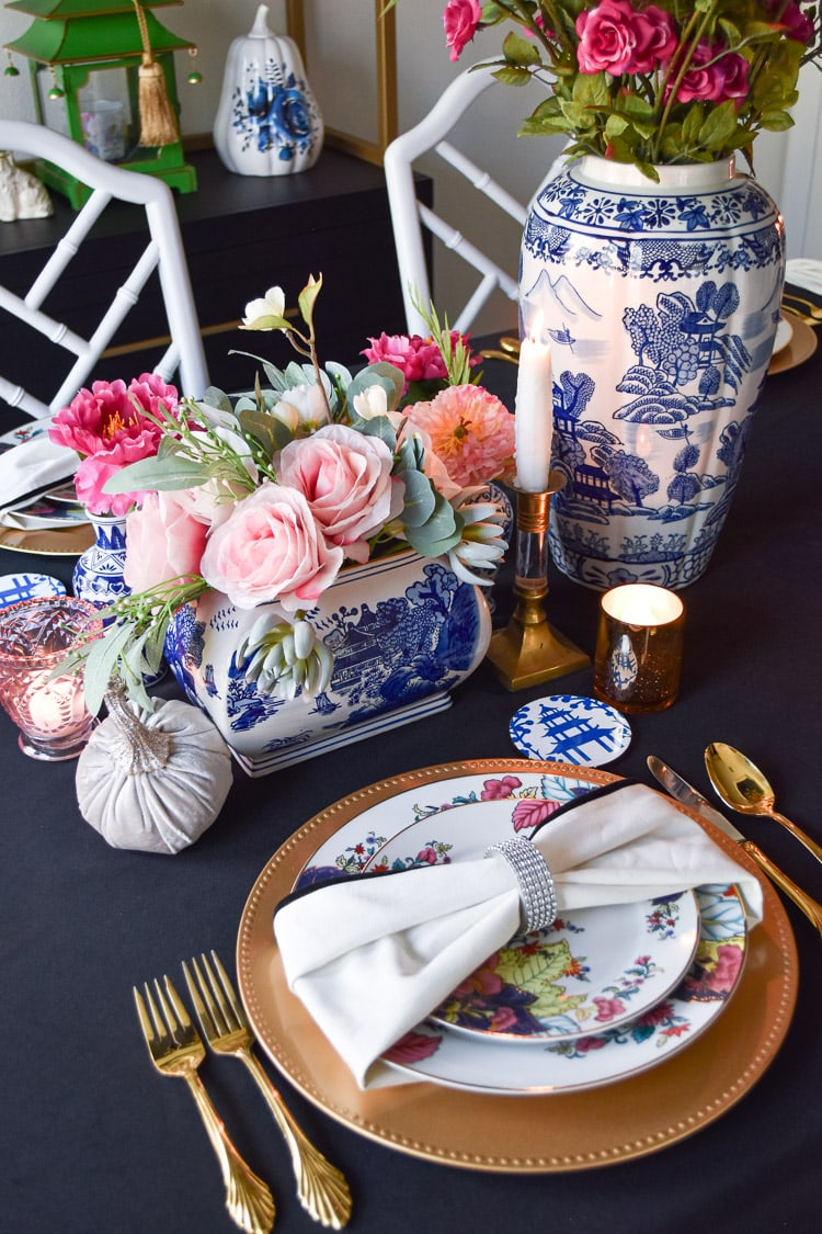 DIY blue and white ceramic coasters using Cricut Infusible Ink Transfer Sheets- chinoiserie chic!