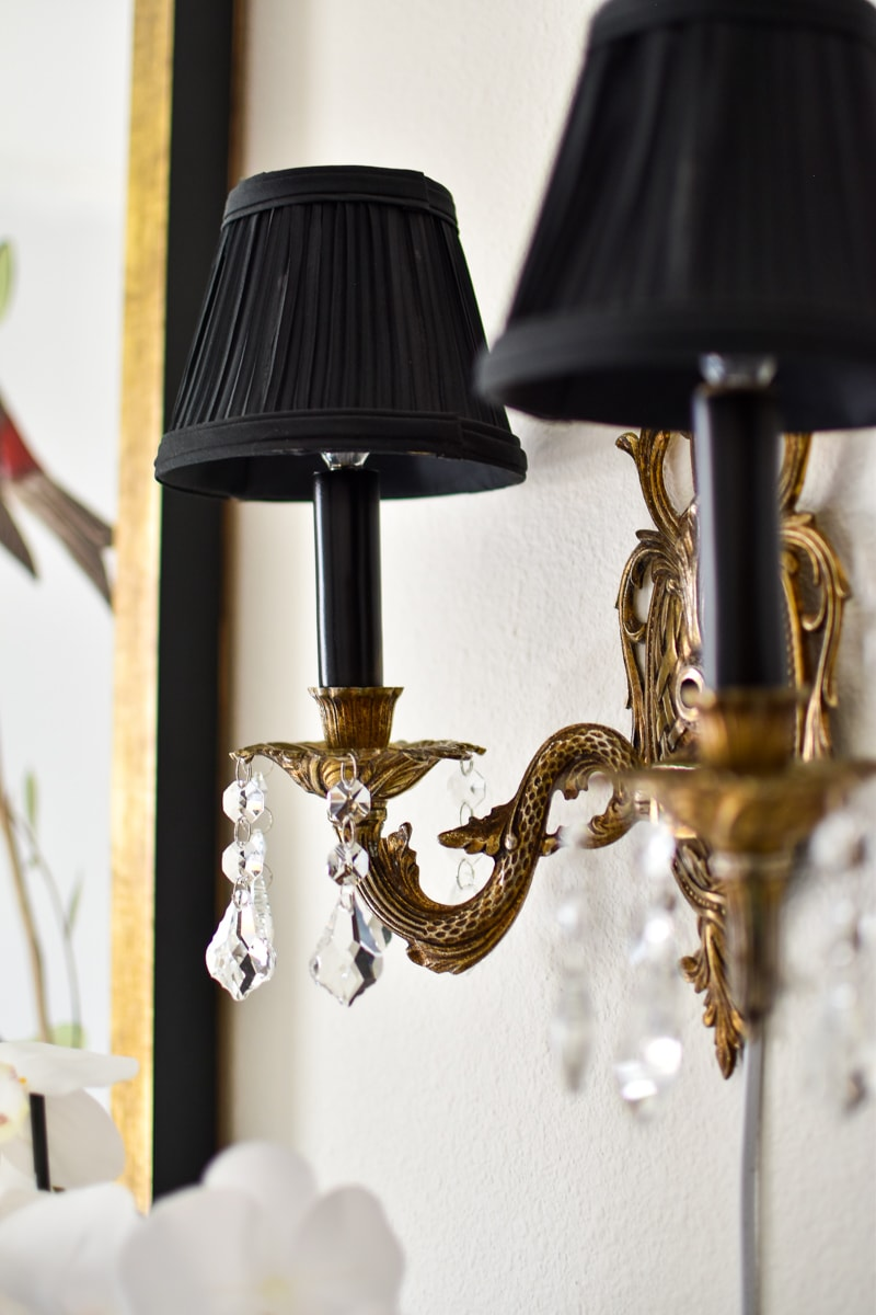 How to convert vintage brass hardwired sconces into plug-in sconces.