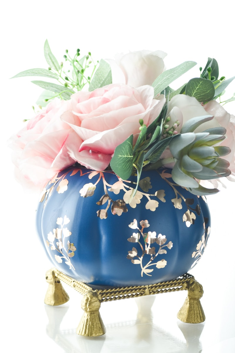 DIY Chinoiserie Pumpkin