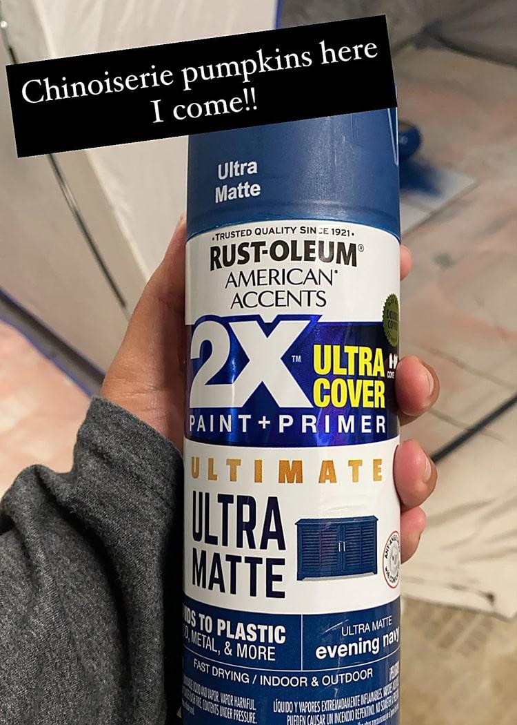 Matte Navy Spray Paint