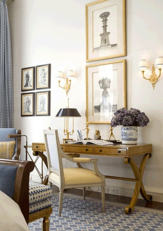 Parisian Inspired Home Office Makeover