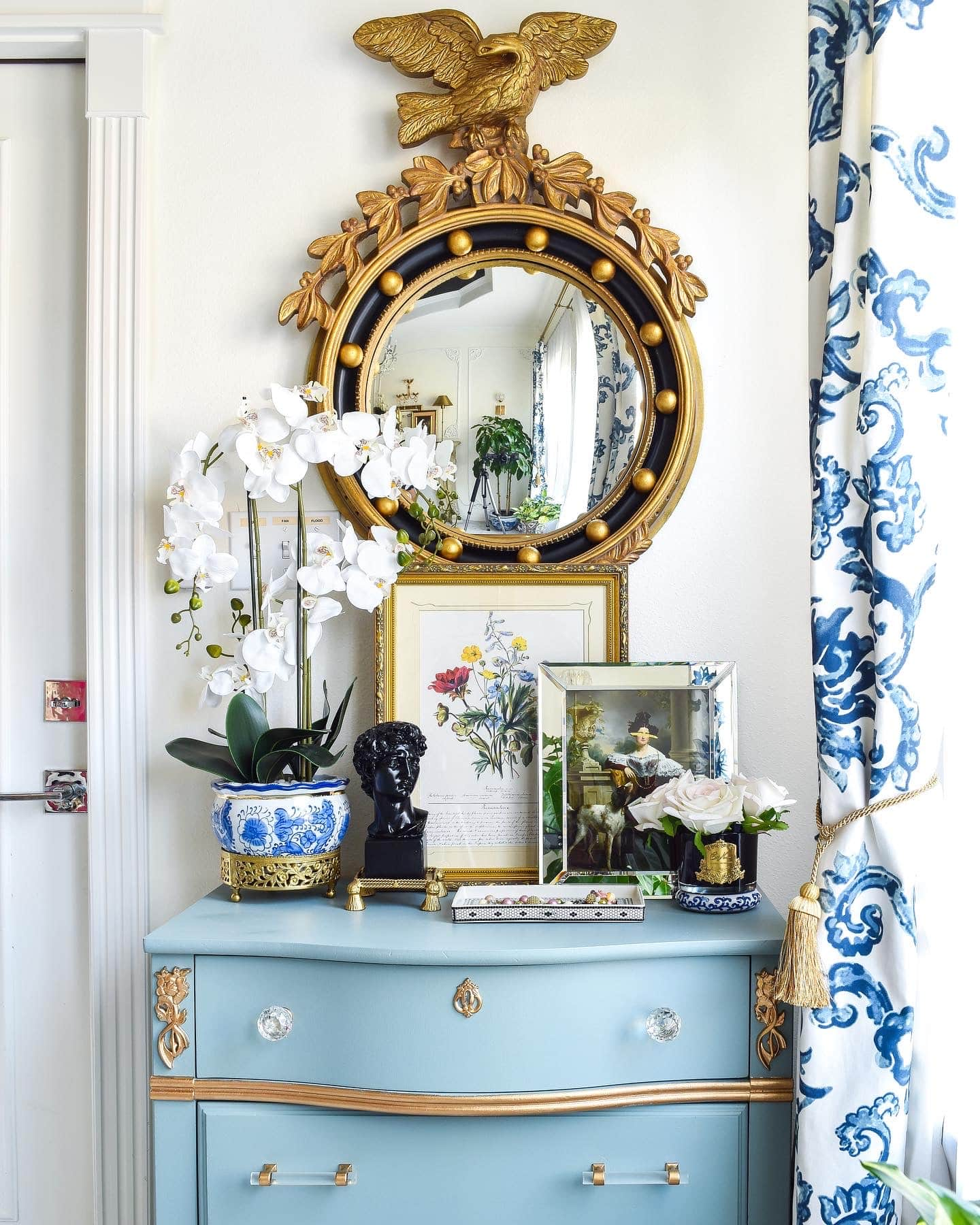 Farrow and Ball Oval Room Blue Dresser