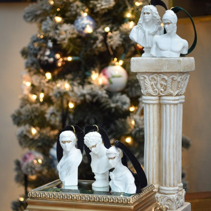 DIY Bust Statue Greek Christmas Ornaments