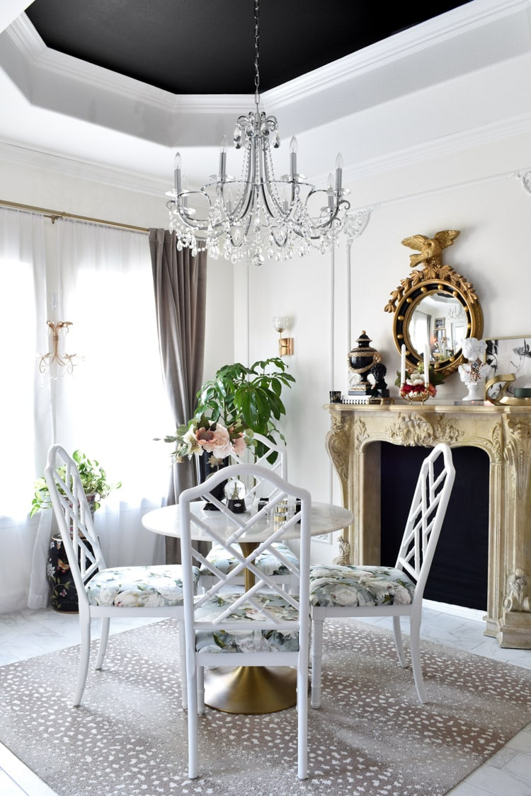 Parisian inspired dining room makeover